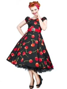 Dolores Doll Cherry Stem Black New