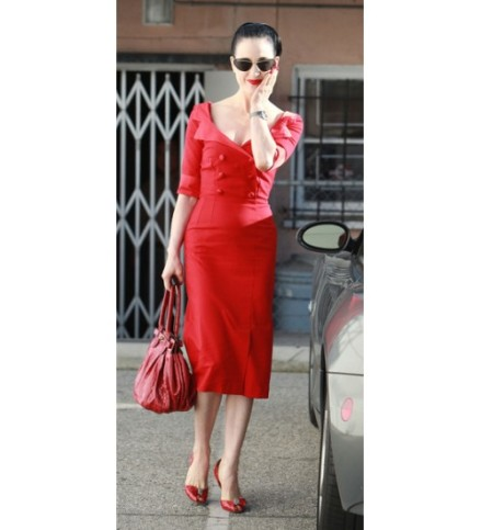 Dita Von Teese Glamour Bunny Red Shirt Dress02-500x550