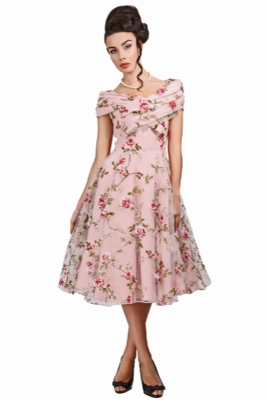 Dorothy Tulle Floral Swing Dress