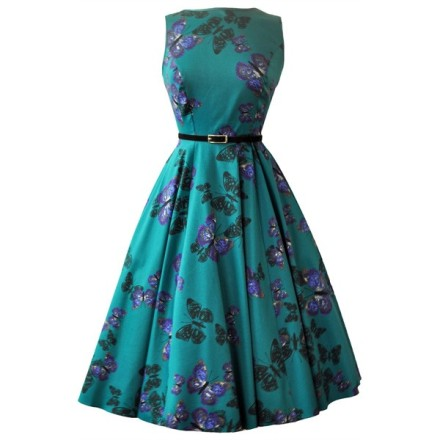lady_v_hepburn_dress_green_butterfly_front