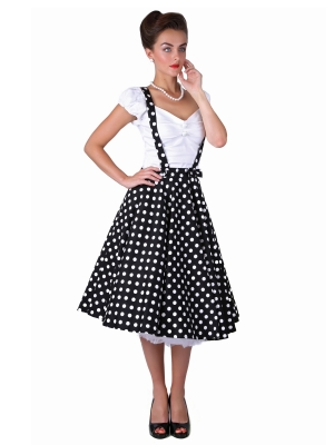 Liesel Polka Dot Skirt Black