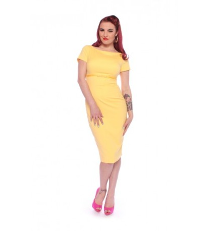 Retro Wiggle Pinup Rockabilly Pencil Dress Clothing SHERYLW-500x550